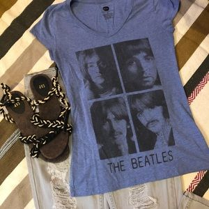 The Beatles V Neck Fitted Tee